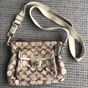 Cross-body Real Coach purse